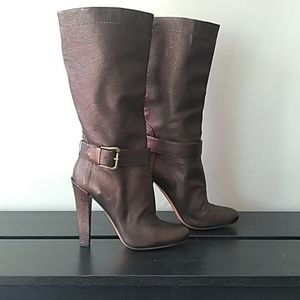 Soft Metallic with Buckle Boots